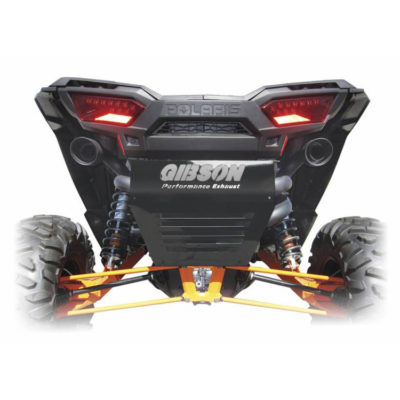 Gibson Exhaust Polaris UTV Black Dual 98026 On Vehicle