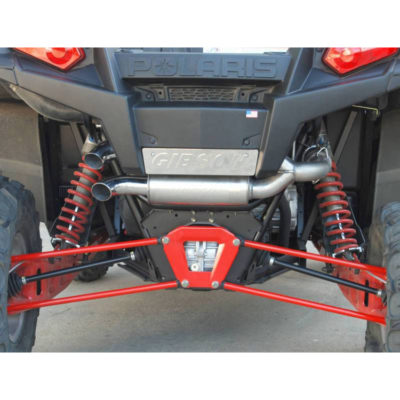 Gibson Exhaust Polaris UTV Stainless Dual 98013 On Vehicle