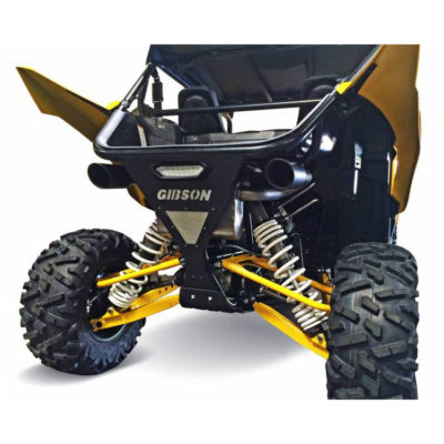 Gibson Exhaust Yamaha UTV Black Dual 98030 On Vehicle
