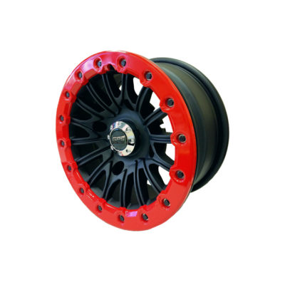 Allied Powersports GPS Extreme 14 inch Aluminum Red Beadlock UTV Wheel