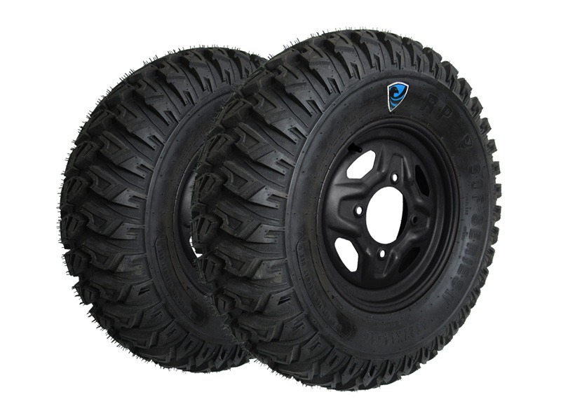 Allied Powersports RP SOF 4 Run Flat UTV Tires and Wheels Package - Slider