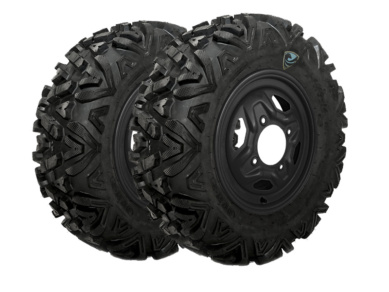 Allied Powersports RP SPARTAN Run Flat UTV Tires and Wheels Package - Slider
