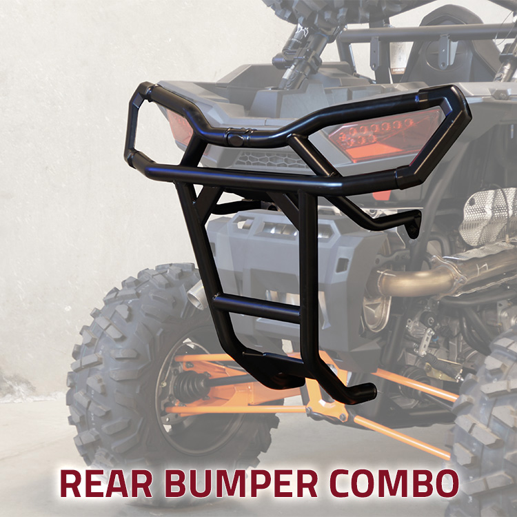 Allied Powersports Rear UTV Bumper Combo for Polaris RZR