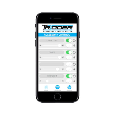 Allied Powersports Trigger Wireless Accessory Controller iPhone App Screen