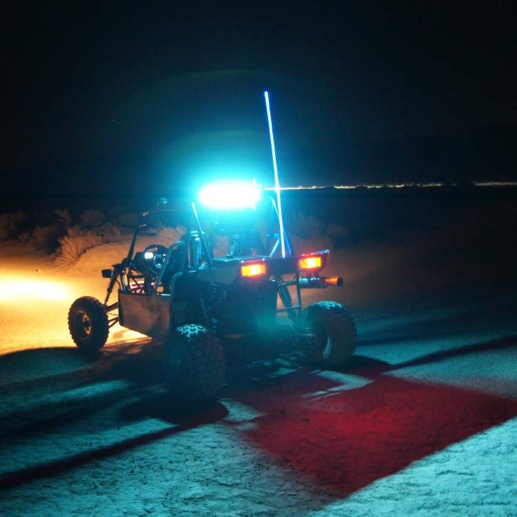 Allied Powersports Brite-Saber LED Chaser Light Model ONE Mounted 02