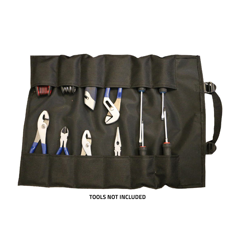 GPS Products DirtRoll Utility Tool Roll Black Open Inside
