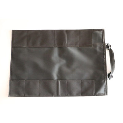GPS Products DirtRoll Utility Tool Roll Black Open Inside Empty