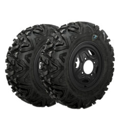 Allied Powersports RP Spartan Military Run Flat Tires Package Two mounted on our Steel Wheels