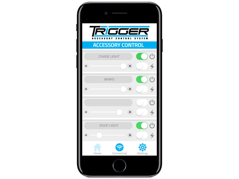 Allied Powersports Trigger Wireless Accessory Controller Slider iPhone App