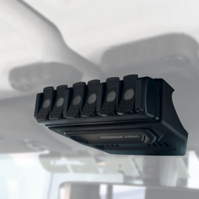 2013-6 TRIGGER SIX SHOOTER Jeep JL Overhead RF Remote Bracket 01 | Allied Powersports