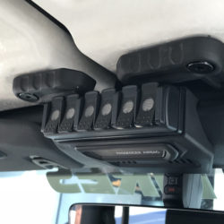 TRIGGER SIX SHOOTER Jeep JL Overhead RF Remote Bracket 01 | Allied Powersports