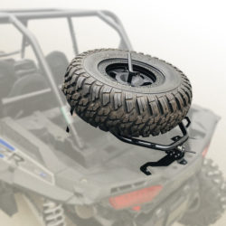 Allied UTV Tire Carrier-Cargo Rack Installed Down
