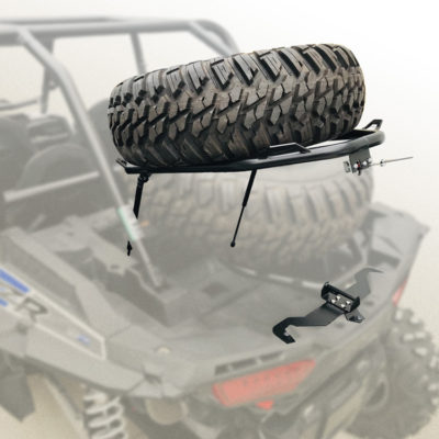 Allied UTV Tire Carrier-Cargo Rack Installed Up